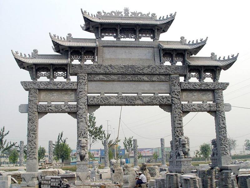 古代石雕牌坊