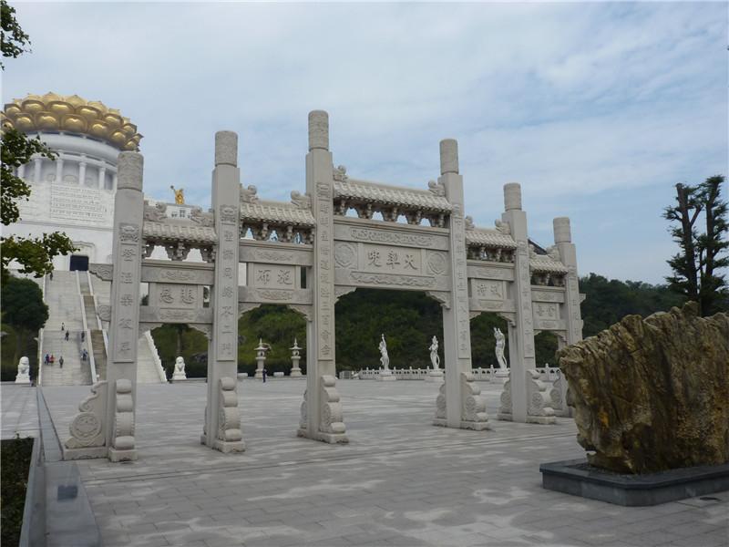 山西寺院石牌坊客戶案例分享